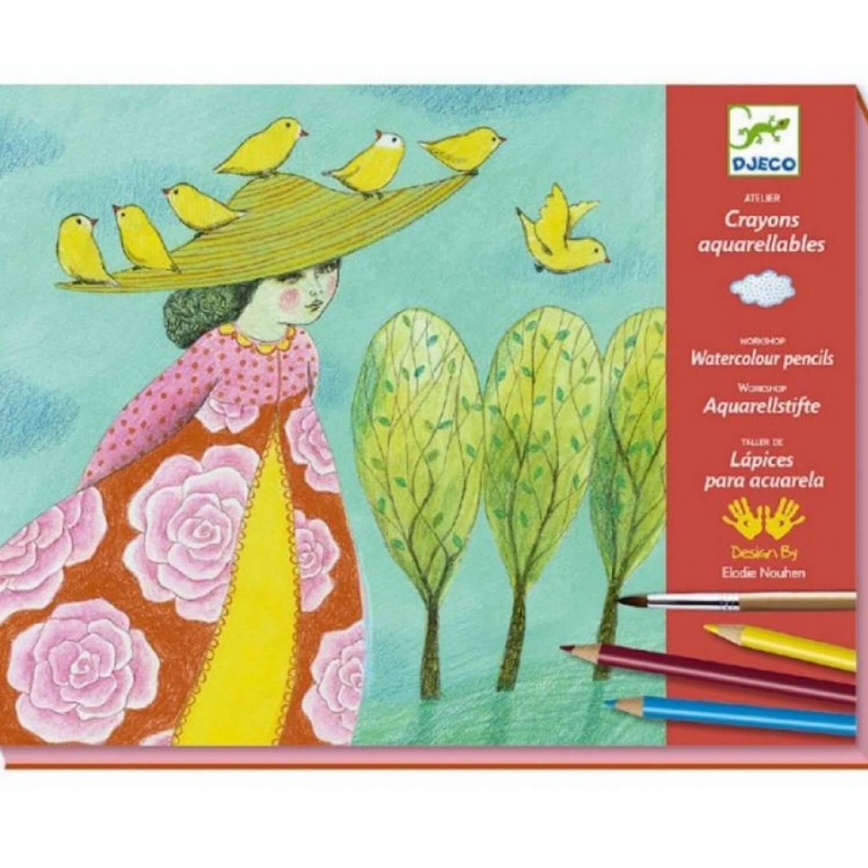 Crayons aquarellables : Echappées belles