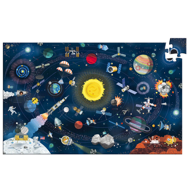Puzzle 200 pièces : Puzzle observation avec livret : L'espace