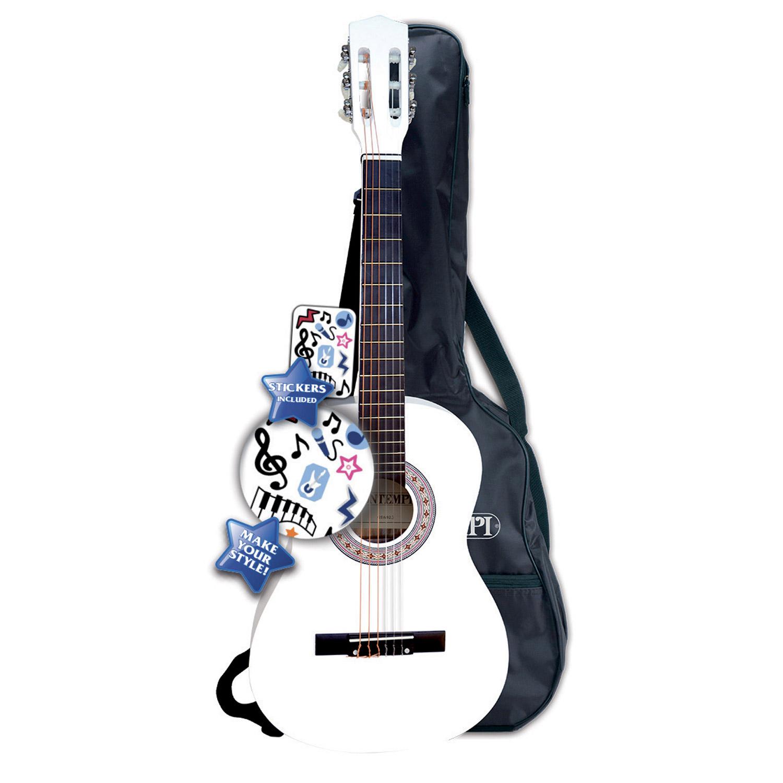 Guitare en bois 92 cm blanche