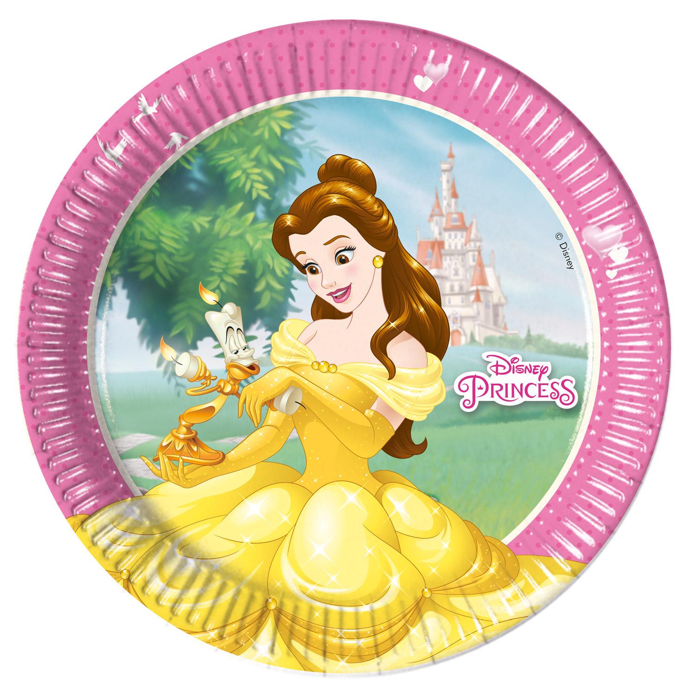Assiettes en carton Princesses Disney x8