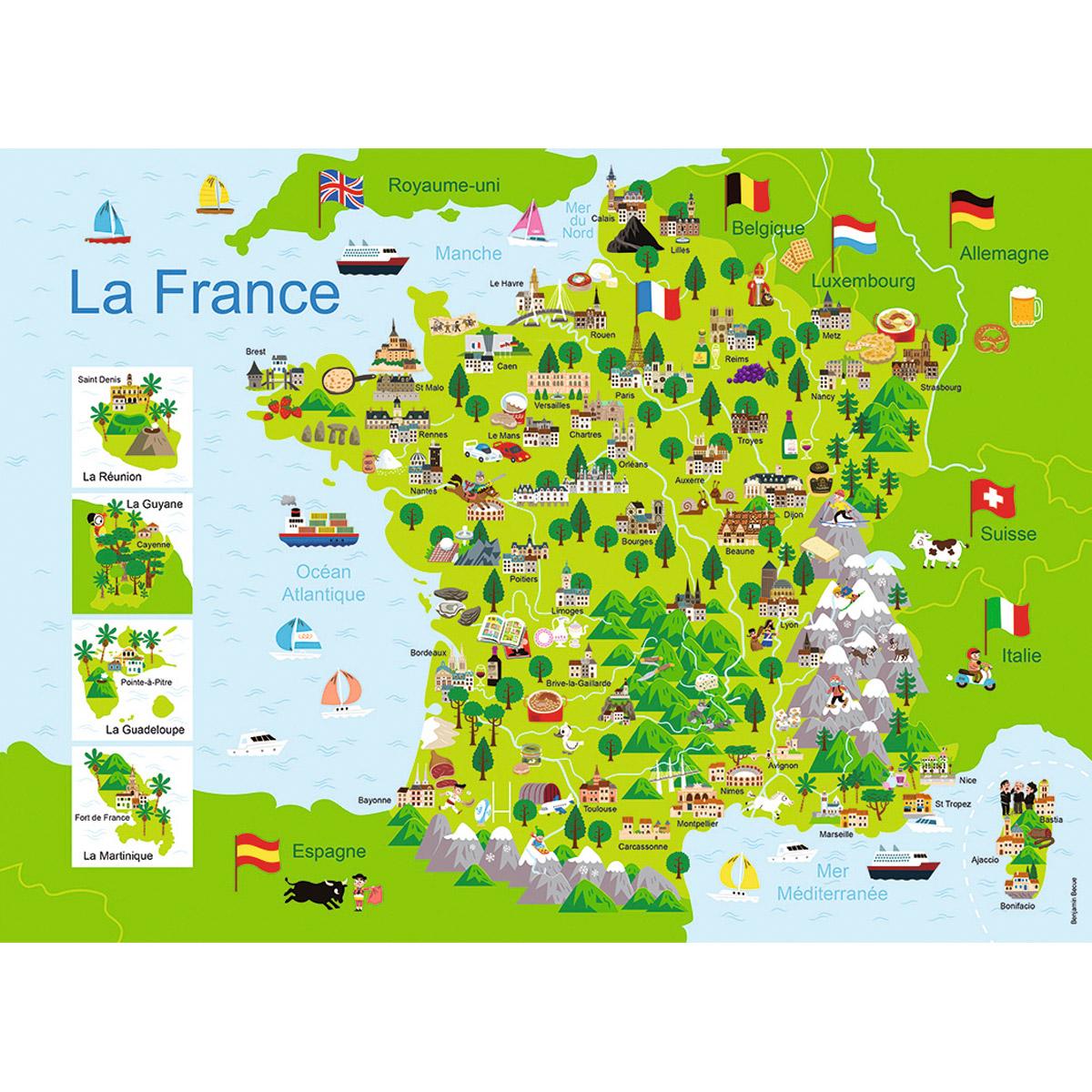 Puzzle 100 pièces : Carte de France