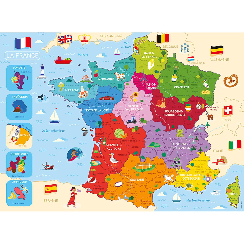 Puzzle 250 pièces : Carte de France