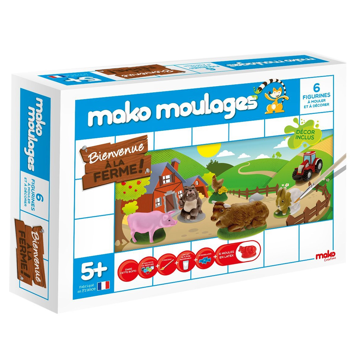 Moulage en plâtre Mako Moulages : Bienvenue à la ferme !