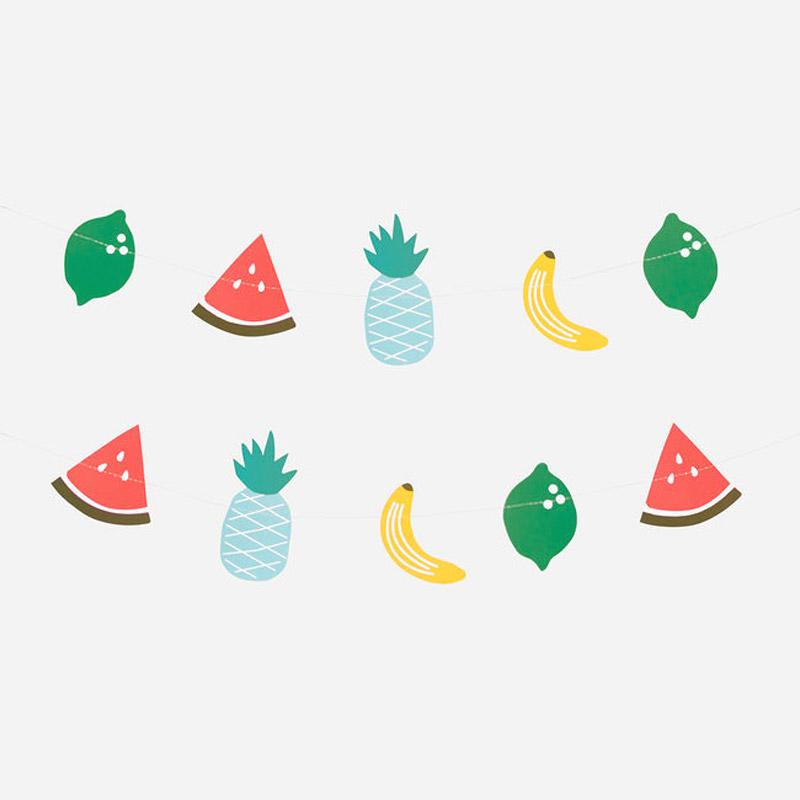 Guirlande en papier Fruits