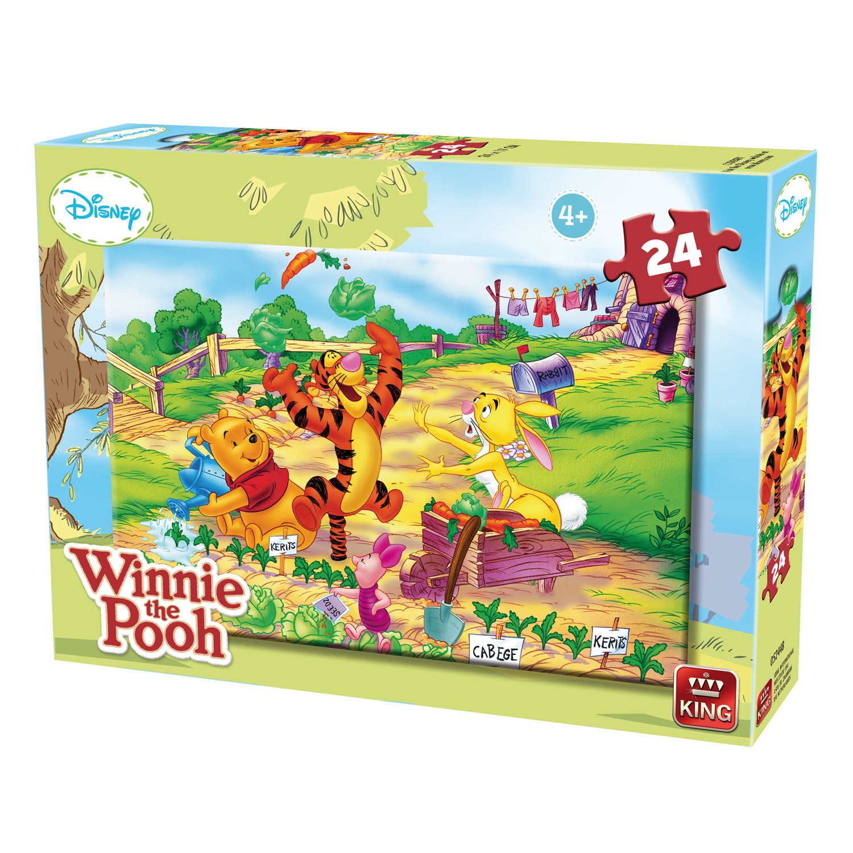 Puzzle 24 pièces : Winnie l'ourson et ses amis