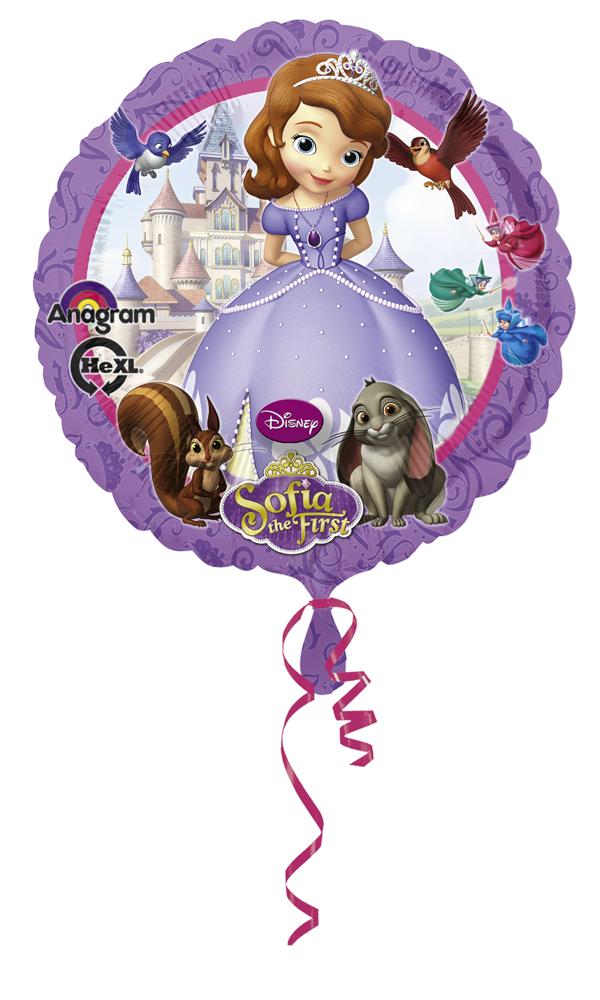 1 Ballon Mylar 43 cm-Princesse Sofia?-