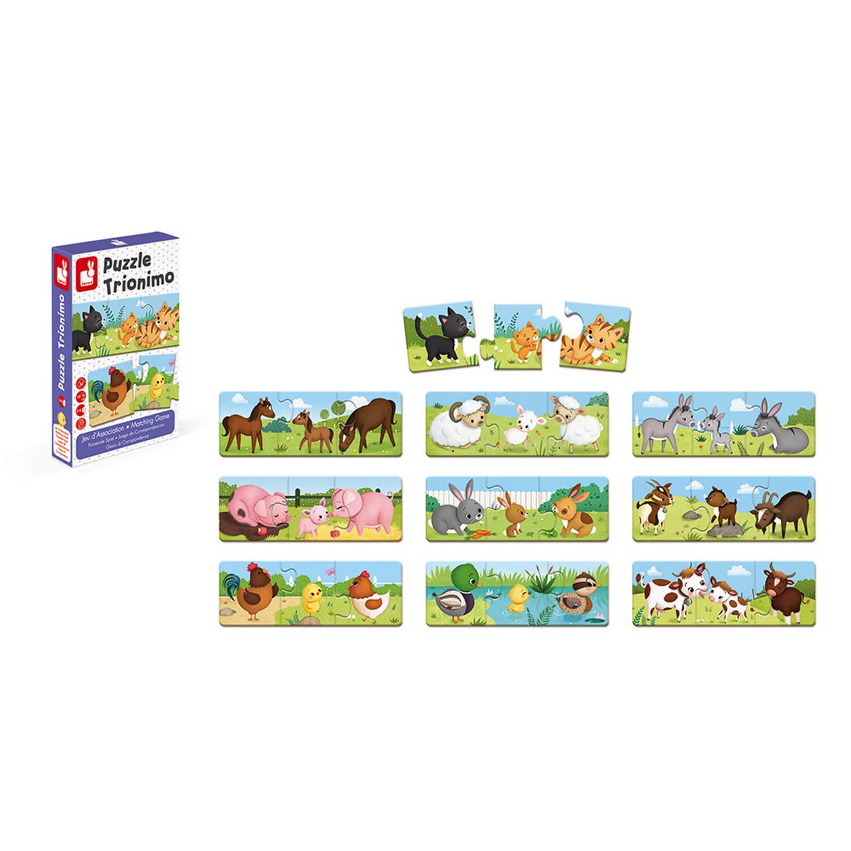 Jeu d'association : Puzzle trionimo