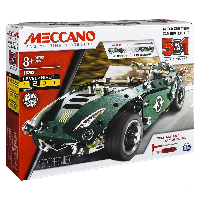 Meccano : Cabriolet à rétro friction 5 modèles