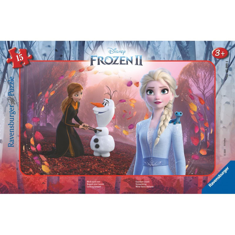 Puzzle cadre 15 pièces : La Reine des Neiges 2 Disney : Regard vers l'avenir