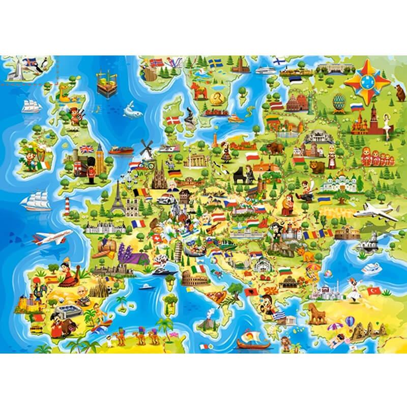 Puzzle 100 pièces : Carte de l'Europe