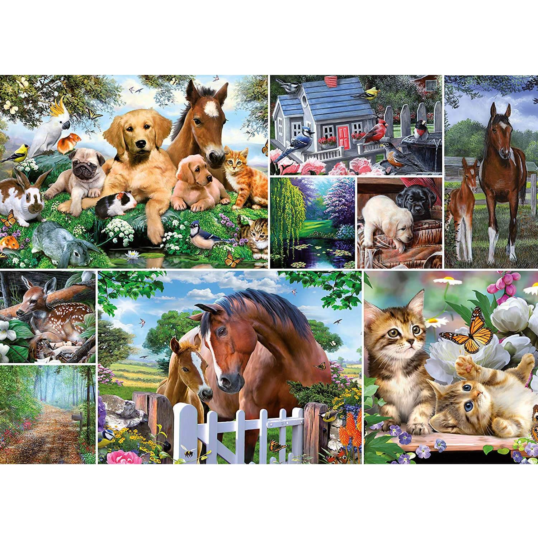 Puzzle 1000 pièces : Collection Collage : Le monde des animaux