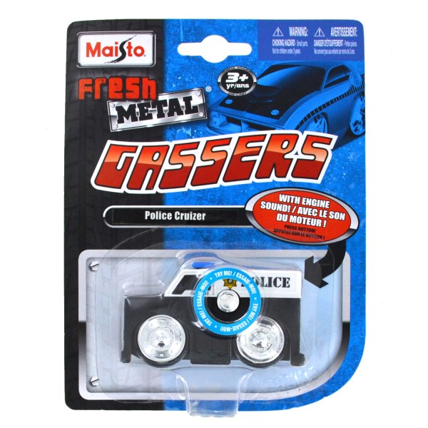 Voiture fresh metal Gassers avec sons : Police Cruizer - Maisto-M85004-3