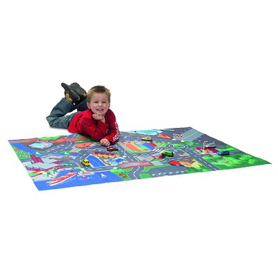 tapis de jeu circuit de voiture playmat avec voiture avenue des jeux. Black Bedroom Furniture Sets. Home Design Ideas