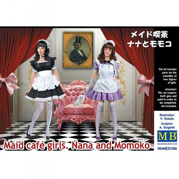 Figurines : Maid café girls. Nana and Momoko - Master-MB35186