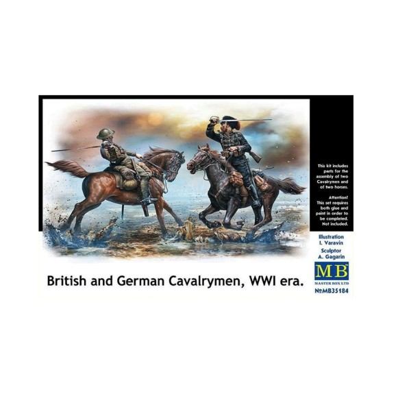 Figurines : Cavaliers anglais et allemand - Master-MB35184