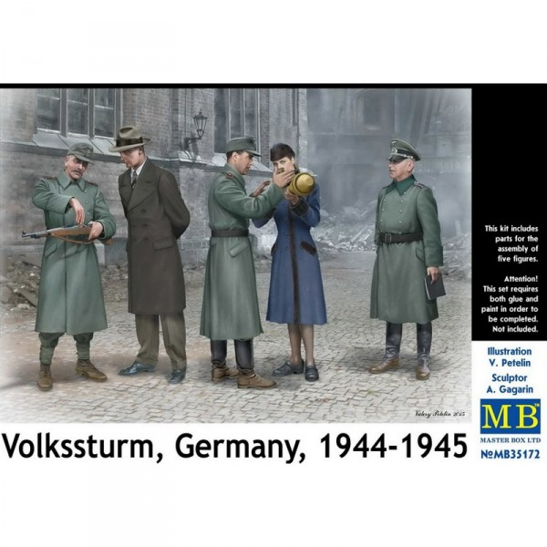 Figurines pour maquette : Volkssturm Germany 1944-1945 - Masterbox-MB35172