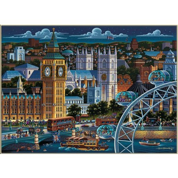 Puzzle 1000 pièces - Valises collector City : Londres - Master-Pieces-45113