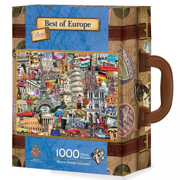 Puzzle 1000 pièces : Best of Europe - Master-Pieces-71672