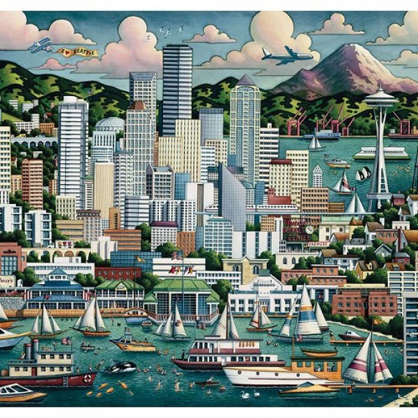 Puzzle 1000 pièces - Valises collector City : Seattle - Master-Pieces-45049