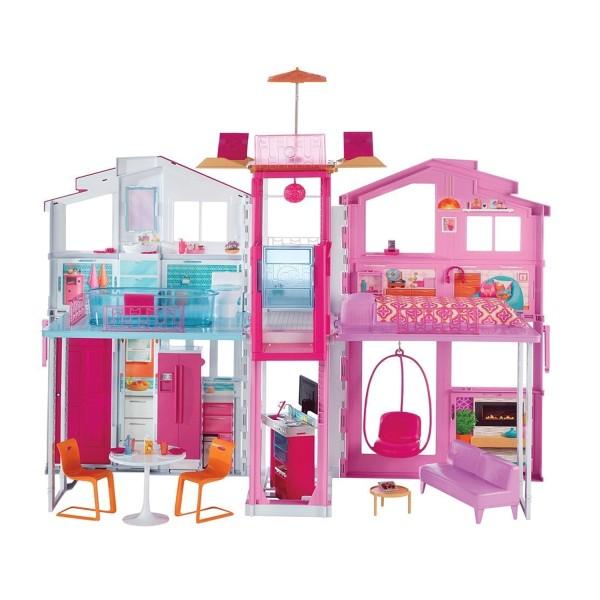 Barbie maison de luxe jeux et jouets mattel avenue for Accessoire maison barbie