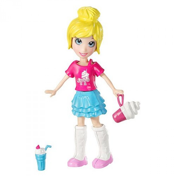 Polly Pocket La p'tite Polly : Polly jupe bleue - Mattel-K7704-V0982
