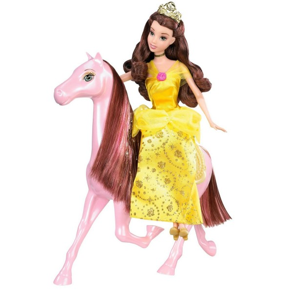 Princesses Disney Belle et son cheval - Mattel-T1285-T1287