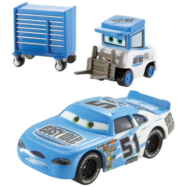 Voitures Cars : Coffret 2 véhicule : Ruby Easy Oaks et Easy Idle Pitty - Mattel-Y0506-CDP70