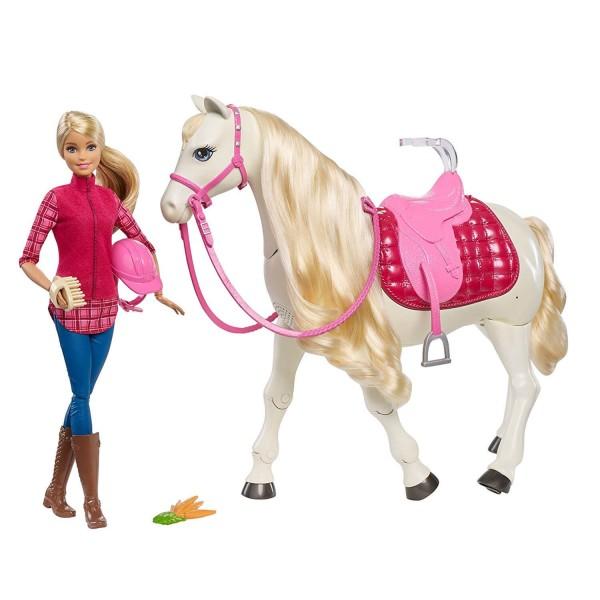 Poup e barbie et son cheval de r ve jeux et jouets mattel avenue des jeux - Barbie et son cheval ...
