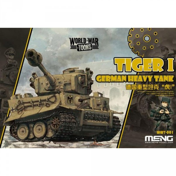 Maquette Char : World War Toons : German Heavy Tank Tiger I - Menghotel-MENG-WWT001