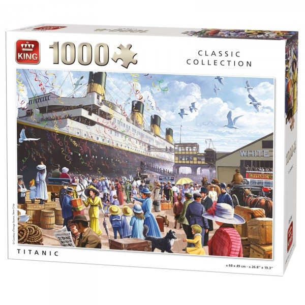 Puzzle 1000 pièces : Classic collection : Titanic - King-57871