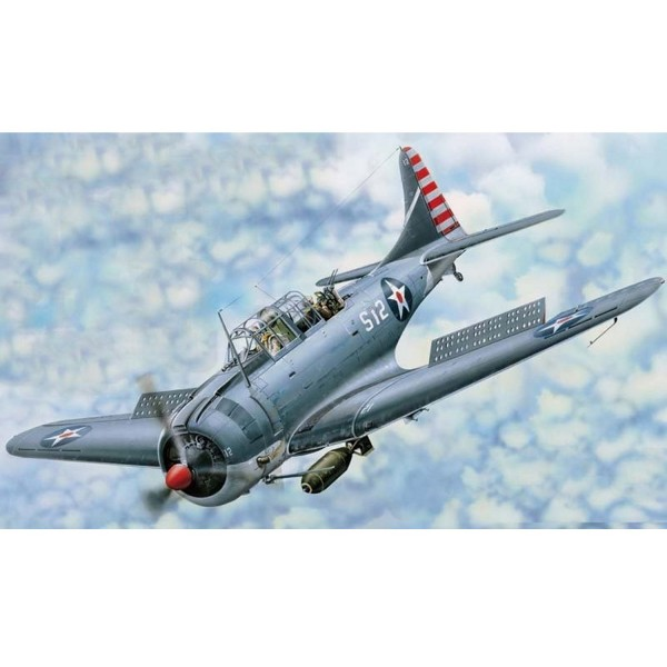 Maquette avion : Douglas SBD-3 Dauntless 1942 - Merit-61801