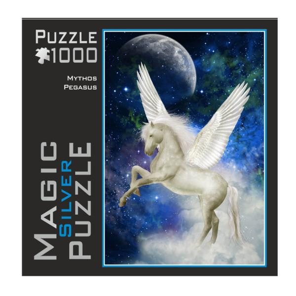 Puzzle 1000 pièces : Magic Silver : Mythe Pegasus - Mic-392.9