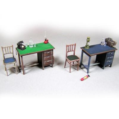 Maquette accessoires et fournitures de bureau Mini Art Rue