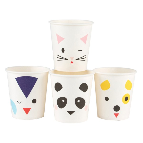 Lot de 8 gobelets Mini Animaux - MLD-GOMINIANI