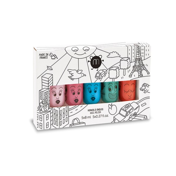 Coffret 5 vernis à ongles - City - Nailmatic-501CITY5
