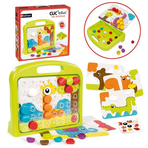 jeu ducatif clic educ les animaux jeux et jouets nathan avenue des jeux. Black Bedroom Furniture Sets. Home Design Ideas