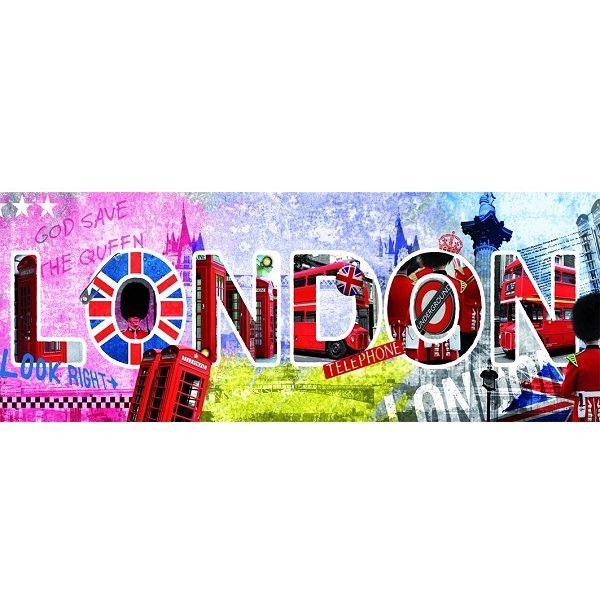 Puzzle 1000 pièces panoramique - London script - Nathan-Ravensburger-87610