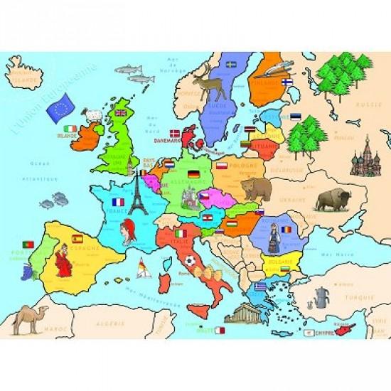Carte Europe Janod.Puzzle Carte Du Monde Mappemonde Geographie Rue Des Puzzles