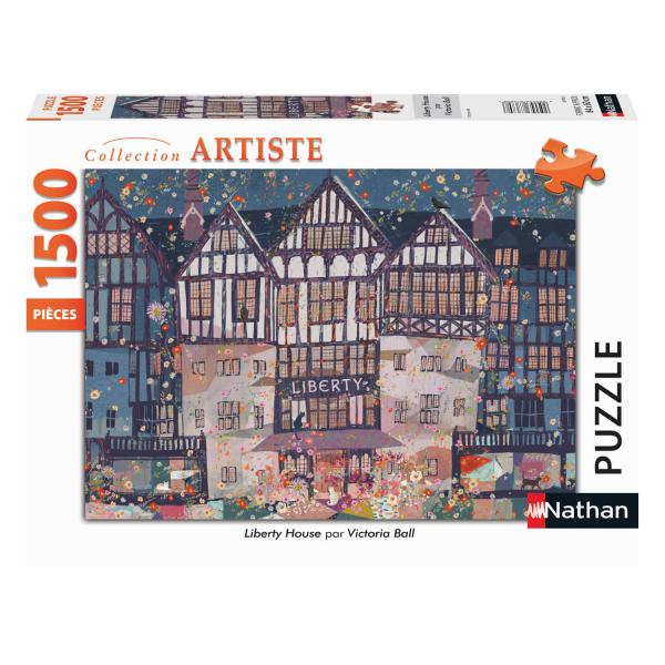 Puzzle 1500 pièces : Liberty House, Victoria Ball - Nathan-Ravensburger-87812