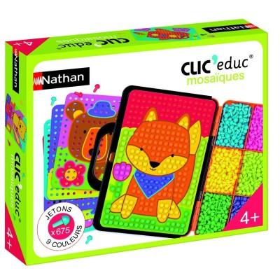 jeu ducatif clic educ mosa ques jeux et jouets nathan avenue des jeux. Black Bedroom Furniture Sets. Home Design Ideas
