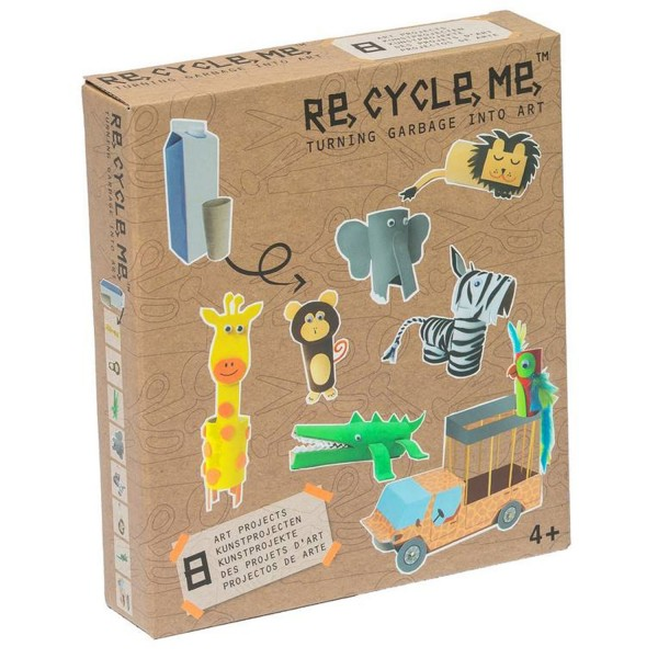 Kit créatif ReCycleMe : Animaux de la jungle - Neotilus-RE16JU123