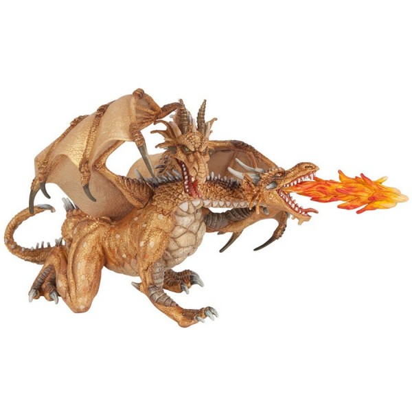 Figurine Dragon deux têtes Or - Papo-38938