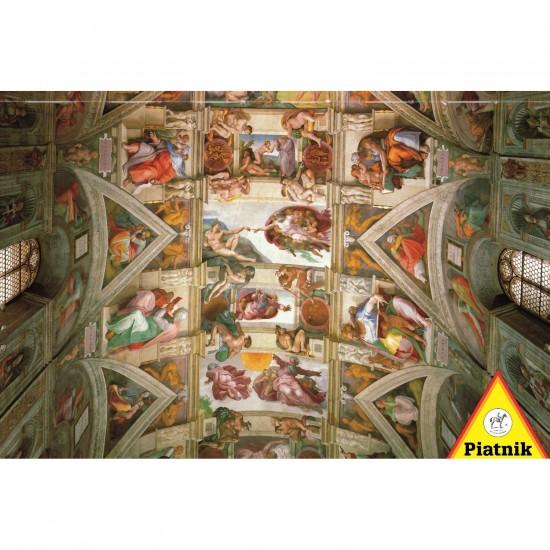 Puzzle 1000 pi ces michel ange plafond de la chapelle sixtine puzzle piatnik rue des puzzles - Michel ange chapelle sixtine plafond ...