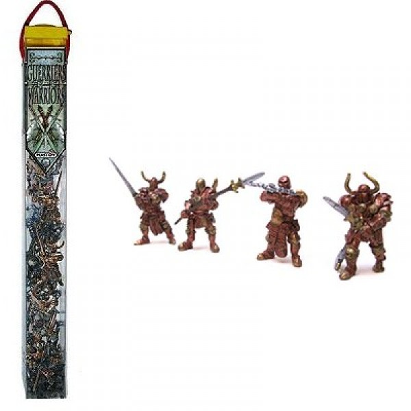 Figurine Guerriers Rouges : Tubo de 20 figurines - Plastoy-70363