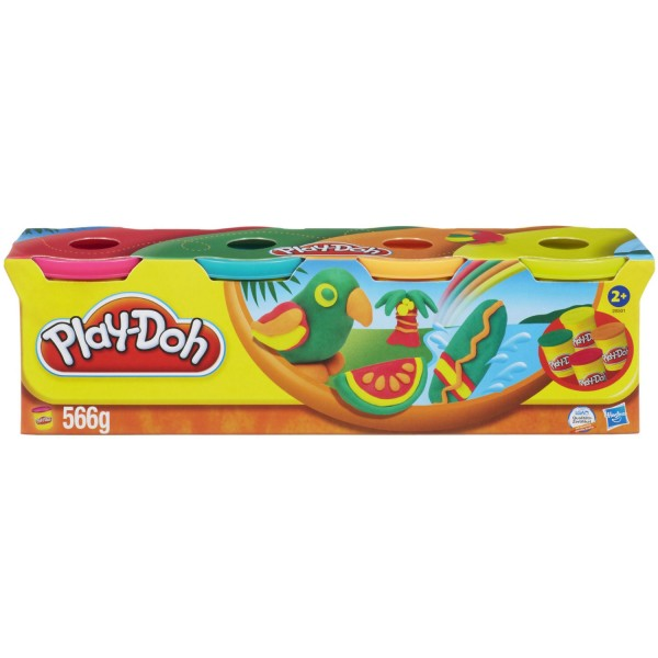 Pâte à modeler Play Doh : Assortiment de 4 couleurs tropicales - Hasbro-22114-28501