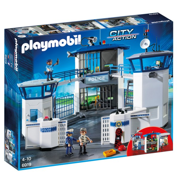 Playmobil 6919 City Action : Commissariat de police avec prison - Playmobil-6919