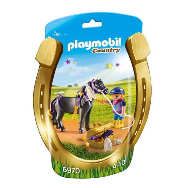 Playmobil 6970 Country : Poney à décorer Etoile - Playmobil-6970
