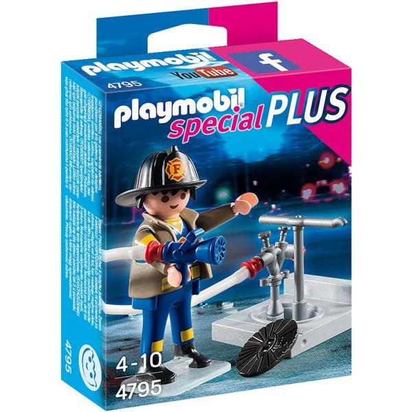 playmobil 4795 spcial plus pompier avec bouche dincendie playmobil 4795 - Playmobil Pompier