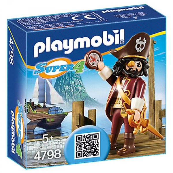 Playmobil 4798 : Super 4 : Barbe de requin - Playmobil-4798