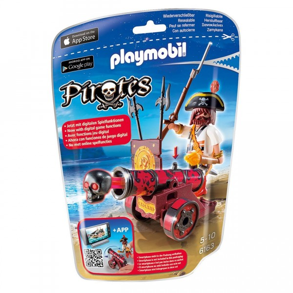 Playmobil 6163 : Pirates : Pirate avec canon rouge - Playmobil-6163